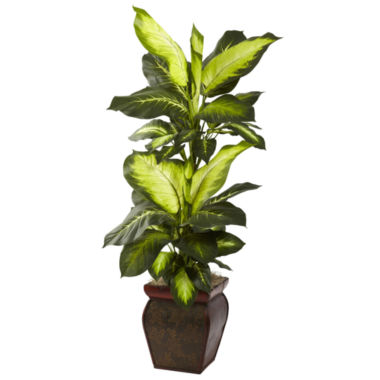 jcpenney.com | Nearly Natural Golden Dieffenbachia With Decorative Planter