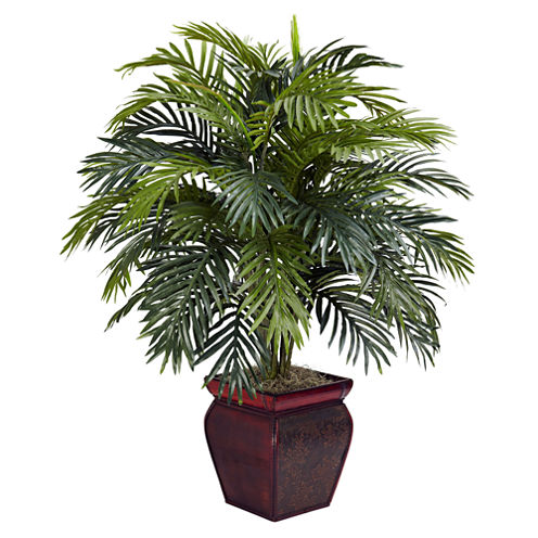 Nearly Natural Areca With Decorative Planter Silk Plant