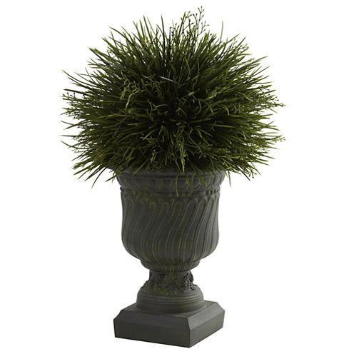 Nearly Natural Potted Grass With Decorative Urn Indoor/Outdoor
