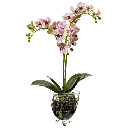 Nearly Natural Raspberry Orchid Elegance Arrangement
