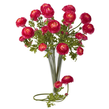 "jcpenney.com | Nearly Natural 23"" Ranunculus Stems - Set of 12"