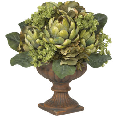 jcpenney.com | Nearly Natural Artichoke Centerpiece Silk Flower Arrangement