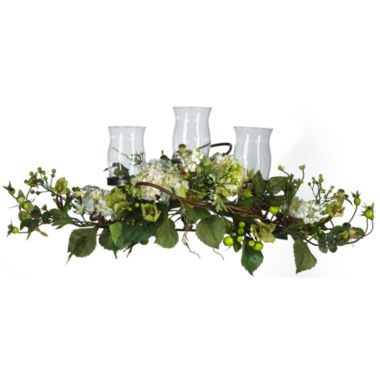 jcpenney.com | Nearly Natural Hydrangea Triple Candelabrum Centerpiece