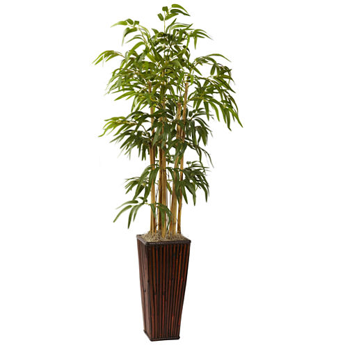 Nearly Natural 4-ft. Bamboo with Decorative Planter