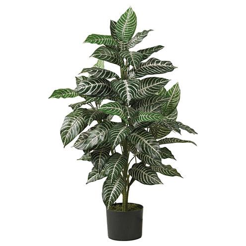 Nearly Natural 3-ft. Zebra Silk Plant