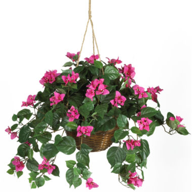 jcpenney.com | Nearly Natural Bougainvillea Silk Plant Hanging Basket