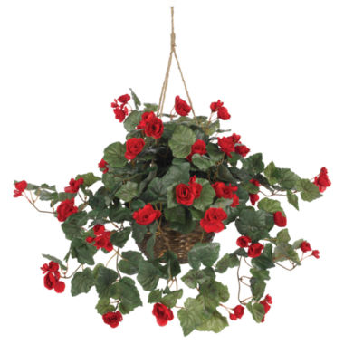 jcpenney.com | Nearly Natural Begonia Hanging Basket