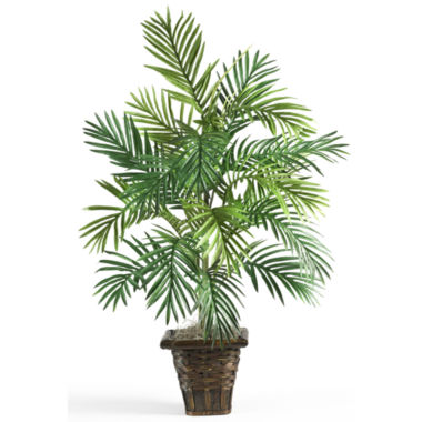 jcpenney.com | Nearly Natural Areca Palm Silk Plant with Wicker Basket