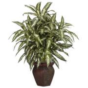 Aglonema With Decorative Vase Silk Plant