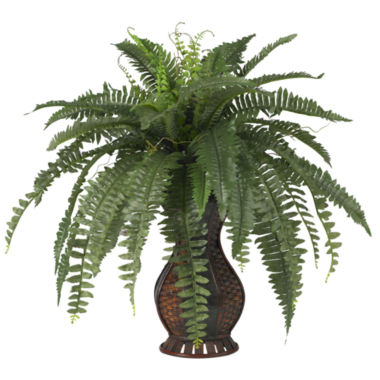 jcpenney.com | Nearly Natural Boston Fern Silk Plant with Urn