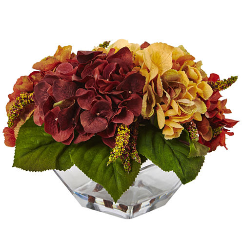 Nearly Natural Autumn Hydrangea Berry with Vase