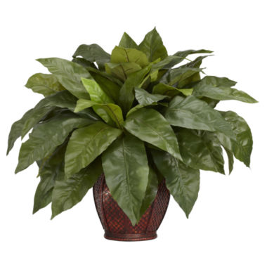 jcpenney.com | Nearly Natural Birds Nest Fern Silk Plant with Vase