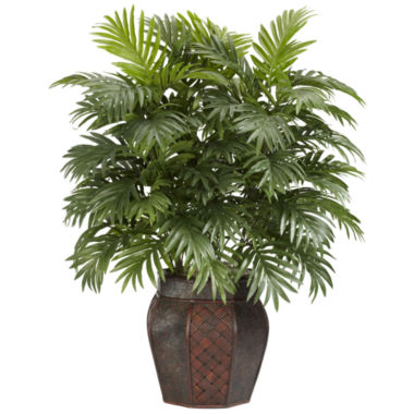 jcpenney.com | Nearly Natural Areca Palm Silk Plant with Vase