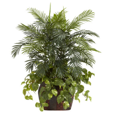 jcpenney.com | Nearly Natural 3.5-ft. Double Areca & Pothos Silk Plant with Vase