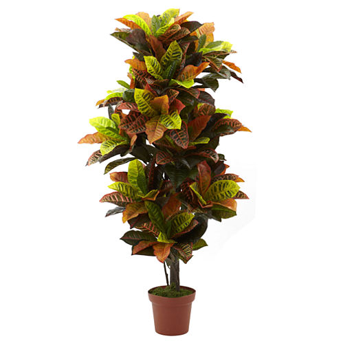 Nearly Natural 56 Croton Plant Real Touch