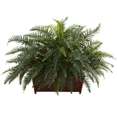 jcpenney.com | Nearly Natural River Fern with Wood Planter