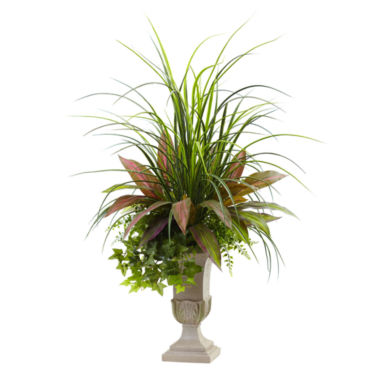 jcpenney.com | 3' Mixed Grass, Dracena, Sage Ivy & Fern With Planter