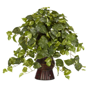 jcpenney.com | Nearly Natural Pothos Silk Plant with Bamboo Vase