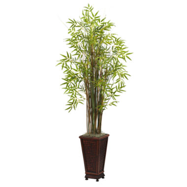 jcpenney.com | Nearly Natural 5.5-ft. Grass Bamboo Plant With Decorative Planter