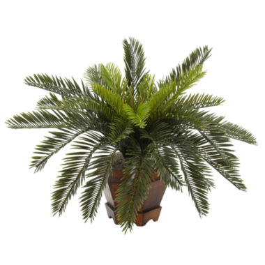 jcpenney.com | Nearly Natural Cycas Silk Plant with Hexagon Vase