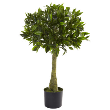 jcpenney.com | Nearly Natural 3-ft. Bay Leaf Topiary UV-Resistant Indoor/Outdoor