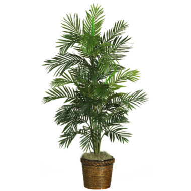 jcpenney.com | Nearly Natural 4.5-ft. Areca Palm Silk Tree with Basket