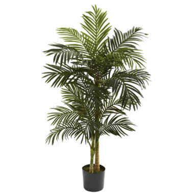 jcpenney.com | Nearly Natural 5-ft. Golden Cane Palm Tree