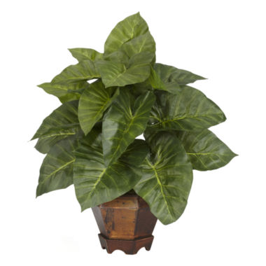 jcpenney.com | Nearly Natural Taro With Vase Silk Plant