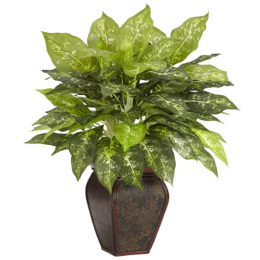 jcpenney.com | Nearly Natural Dieffenbachia With Decorative Vase Silk Plant