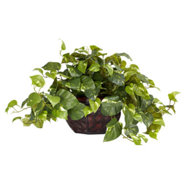 jcpenney.com | Nearly Natural Pothos With Decorative Vase Silk Plant