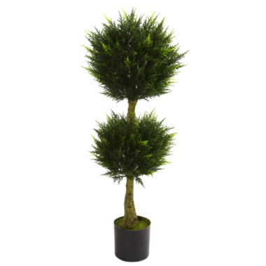 jcpenney.com | Nearly Natural 4-ft. Double Ball Cypress Topiary UV-Resistant Indoor/Outdoor