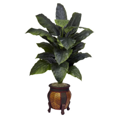 jcpenney.com | Nearly Natural Giant Spathiphyllum With Decorative Vase Silk Plant