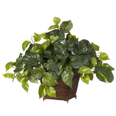 jcpenney.com | Pothos With Coiled Rope Planter Silk Plant
