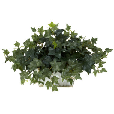 jcpenney.com | Nearly Natural Ivy With White Wash Planter Silk Plant