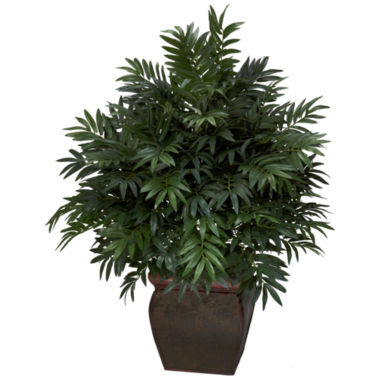 jcpenney.com | Nearly Natural Triple Bamboo Palm With Decorative Planter Silk Plant