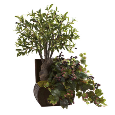 jcpenney.com | Nearly Natural Olive Tree & Grape Leaf With Chest