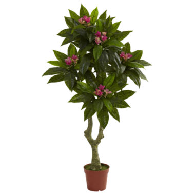 jcpenney.com | Nearly Natural 5-ft. Plumeria Tree UV-Resistant Indoor/Outdoor