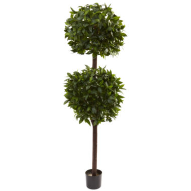 jcpenney.com | Nearly Natural 6-ft. Sweet Bay Double Ball Topiary