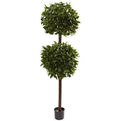 Nearly Natural 6-ft. Sweet Bay Double Ball Topiary