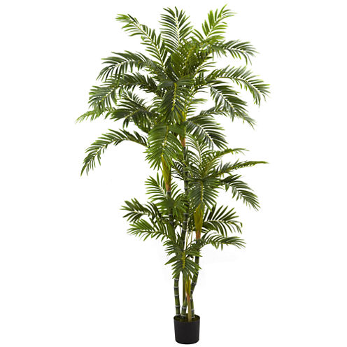 Nearly Natural 6-ft. Curvy Parlor Palm Silk Tree