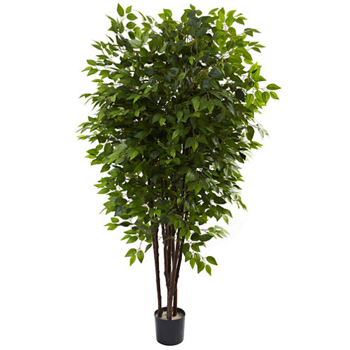 Nearly Natural 6.5-ft. Deluxe Ficus Tree