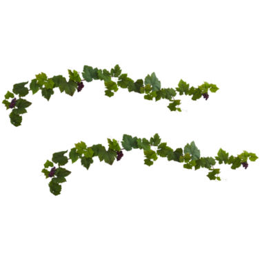 jcpenney.com | Nearly Natural 6-ft. Set of 2 Grape Leaf Deluxe Garland with Grapes