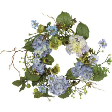 "jcpenney.com | Nearly Natural 20"" Hydrangea Wreath"