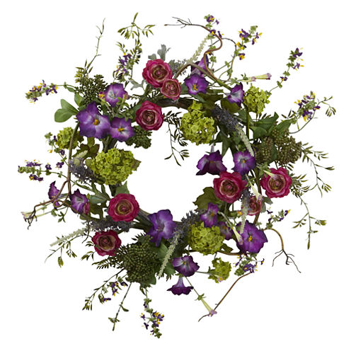 Nearly Natural 20 Veranda Garden Wreath