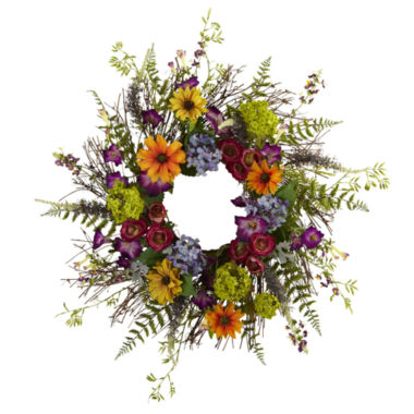 jcpenney.com | Nearly Natural 24 Spring Garden Wreath With Twig Base