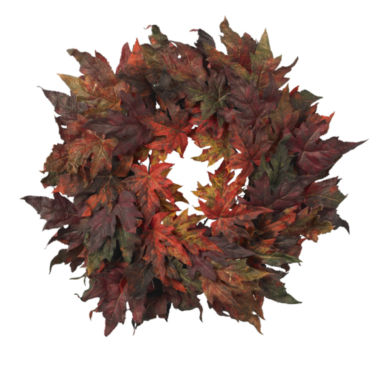 "jcpenney.com | Nearly Natural 30"" Maple Leaf Wreath"