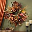 Nearly Natural 24 Pumpkin & Berry Wreath