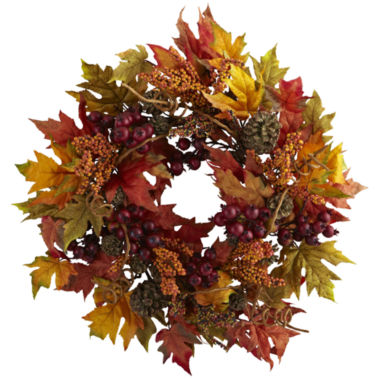 "jcpenney.com | 24"" Maple And Berry Wreath"