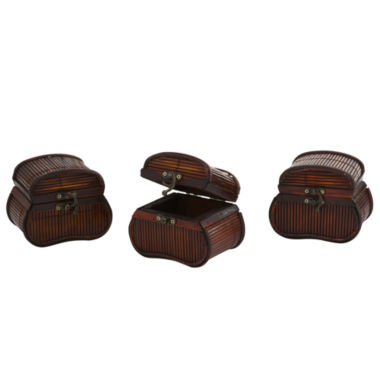 jcpenney.com | Nearly Natural Bamboo Chests Set Of 3