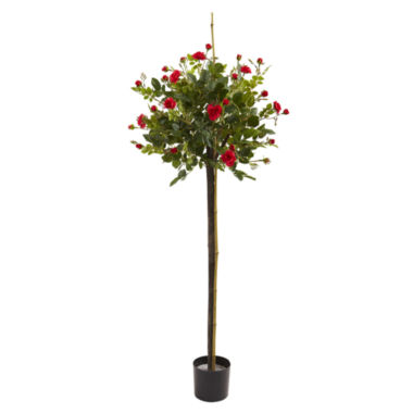 jcpenney.com | 3' Rose Topiary Silk Tree